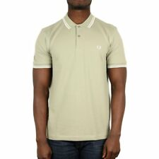 Fred Perry Twin Tipped Polo Shirt - Pale Olive