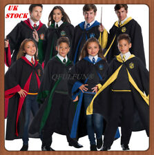 Harry Potter Hogwarts Robe Tie Set Adult Kids Wizard Cloak Fancy Dress Costume