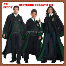 Harry Potter Slytherin Robe Costume Cloak&Tie Adult Child Xmas Gift Fancy Dress