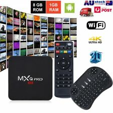 2018 MXQ PRO 4K QuadCore WiFi 3D Smart TV Box Media Player Android 7.1 ZTEU