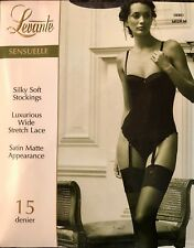 LEVANTE 'Sensuelle' Luxurious Wide Lace Topped, Silky Soft Stockings BNIP