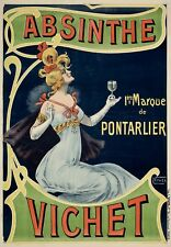 Pontarlier Vichet Absinthe VINTAGE AD POSTER on Canvas/ Photo/ Art Print