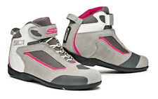 SIDI GAS GREY PINK LADIES WOMENS SHORT MOTORCYCLE MOTORBIKE SNEAKER BOOTS SHOES