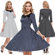 Dress Evening Pinup Retro Vintage Womens Party 1950's Swing 50s Polka 60s Style