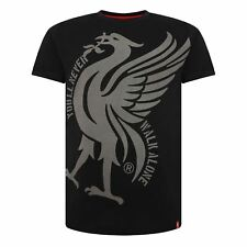 Liverpool FC Black Mens Football Liverbird YNWA Shirt AW 18/19 LFC Official
