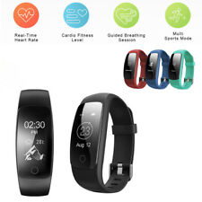 ID107Plus HR Heart Rate Fitness Tracker Smart Bracelet Wristband Watch Pedometer