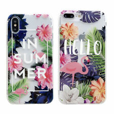 Flower flamingo Phone Case Cover Back For iPhone X Xs Max SR XS 8 7 6/6S Plus