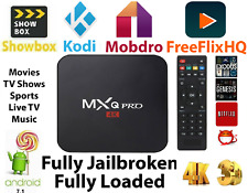 MXQ Pro 4K 64Bit Android 7.1 Quad Core Smart TV Streamer Box KODI S905W 2GB+16GB