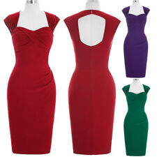Dress Wiggle Pinup Pencil Pin-up Housewife Vintage Party Mini 50s Style Bodycon