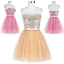 New Dress Homecoming Cocktail Ball Prom Short Tulle Party Sleeveless Bridesmaid