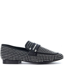 Mocassino Steve Madden Kast in eco pelle nera con mini borchie