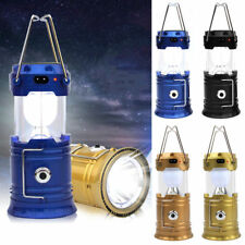 Multi-role Solar Power Camping USB  LED Lantern Rechargeable Tent Light Lamp New