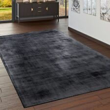 High Quality Handmade Rug 100% Viscose Fancy Optical Mottled Mat Grey Anthracite
