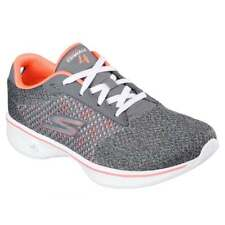 SKECHERS Womens GOwalk 4 Exceed Trainers Charcoal/Coral.Various size