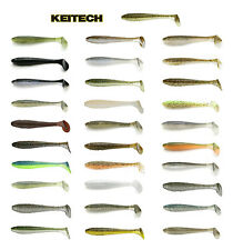 """Keitech Fat Swing Impact Paddle Tail Swimbait 3.3"""" (8.4 Cm) 7 Pack Keitech Lures"""