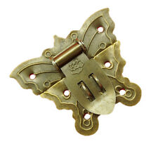 Antique Butterfly Latch Catch Jewelry Wooden Box Lock Hasp Pad Chest Lock Kit