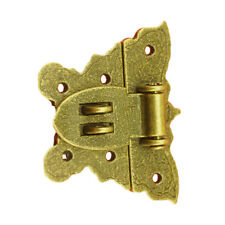 5 X Retro Chic Butterfly Latch Catch Jewelry Wooden Box Lock Hasp Pad Chest 2019