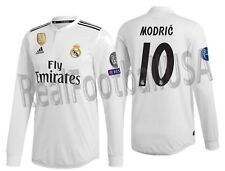 709277dc51c ADIDAS LUKA MODRIC REAL MADRID LONG SLEEVE AUTHENTIC UCL HOME JERSEY 2018/19