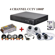 4 Channel 2MP 1080P AHD CCTV P2P Network FULL HD Recorder