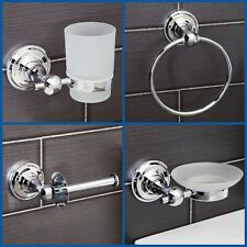 Traditional Bathroom Accessories Set Toilet Paper Holder Towel Ring Soap Dish