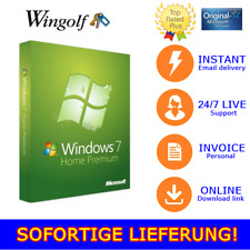 MS Windows 7 Home Premium Win 7 HP Key 32-bit 64-Bit 1-5 PC per E-mail ESD