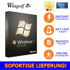 MS Windows 7 Ultimate, 1/2/3/4/5 PC, 32&64 Bits, Produkt-key per email