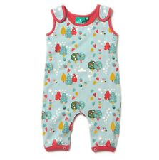 Little Green Radicals Organic DUNGAREES 0 3 6 18 24 Falling leaves