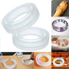 DIY Silicone Mould Round Making Resin Necklace Bangle Bracelet Jewelry Mold