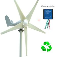 400W Wind Turbine Generator DC 12V/24V 3/5 Blade Power Supply with Charge