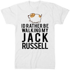 Id Rather Be Walking My Jack Russell T Shirt Funny Joke Gift Idea A Dog Owner