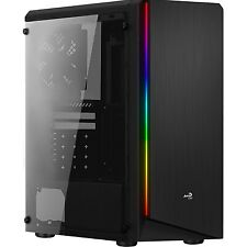 NEW! Aerocool Rift Mid Tower 1 X Usb 3.0 / 2 X Usb 2.0 Side Window Panel Black C