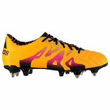 online store 8600a d6a4f adidas X 15.1 Soft Ground Leather Football Boots Mens Gold Soccer Shoes  Cleats