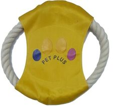 PET PLUS Dog Frisbee Training Play Flying Disc Canvas Cotton Rope Good Quality
