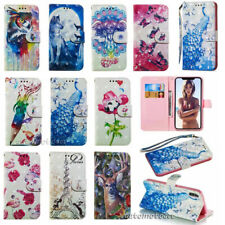 For iPhone XSMAX XR 5 SE 6/7/8 Plus 3D Wallet Card Flip Leather Phone Case Cover