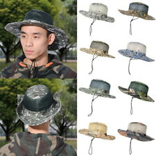 f99a6ecb16e Womens Mens Camo Bucket Wide Brim Hats Boonie Hunting Outdoor Fishing Sun  Caps