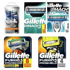 Gillette Fusion, Fusion Power, Pro Glide, Mach3, Turbo Razor Blades or Razor NEW