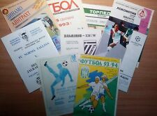 UEFA Cup 1992 - 2000 MATCH PROGRAMMES UPDATED FEBRUARY 2019