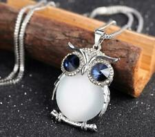 Owl Pendant  Women Necklace Rhinestone Sweater Chain Long  Jewelry ..