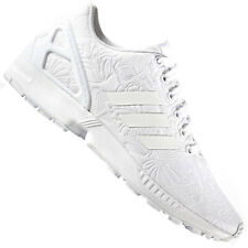 9ff253a61 Adidas Originals Zx Flux Ladies Sneaker Shoes Clean White Blumenmuster Print