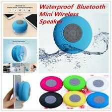 Mini Rubber Wireless Bluetooth Portable Car/Shower Waterproof Suction Speaker