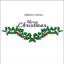 Christmas Holly Shop Window Stickers