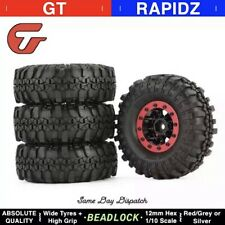 1.9 Inch Rubber Tyre with Alloy BEADLOCK Wheel Rim for AXIAL SCX10 Fits Traxxas
