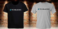 Black T-Shirt TC Helicon Grey Men's Tee Size S to 3XL