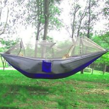 Single Person Hammock Mosquito Net Outdoor Camping Hiking HANGING Parachute Bed