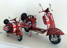 Tin Plate Scooter Model, Union Jack Scooter Model, Tin Scooter, 2 Sizes, NEW