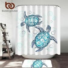 Turtles Shower Curtain Set Tortoise Waterproof Bath Curtain With Hooks Cartoon A