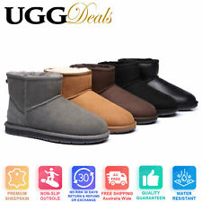 UGG Mini Classic Boots Australian Sheepskin Water Resistant Ankle Boots 15701