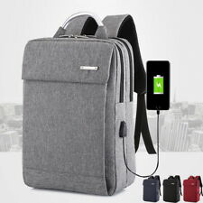Anti-Theft Unisex Laptop Backpack Business Travel School Bag USB Charge Port 12