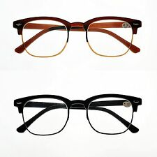 Retro Bendable TR90 Fashion Unisex Flexible Reading Glasses Black or Brown TN32
