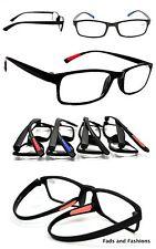 Bendable TR90 Reading Glasses 2019 Unisex in 4 Colours + 8 Lens Strength RG9